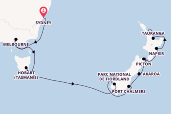 Joyeuse balade de 15 jours au départ de Sydney