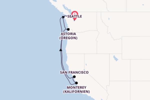 Außergewöhnliche Reise über Monterey in 8 Tagen