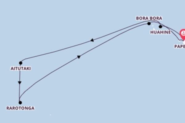 12 jours de navigation à bord du bateau Paul Gauguin vers Papeete