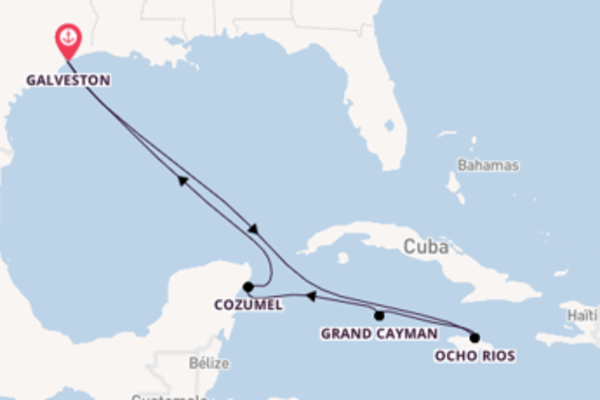 Visitez avec Carnival Cruise Lines, la destination: Ocho Rios