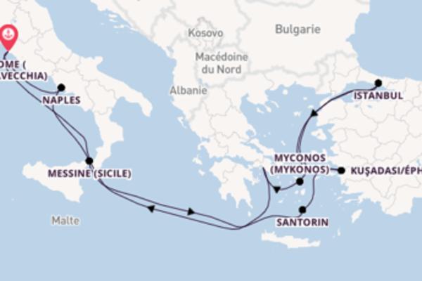 12 jours de navigation à bord du bateau Celebrity Edge vers Rome (Civitavecchia)