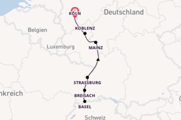 In 8 Tagen nach Köln über Basel