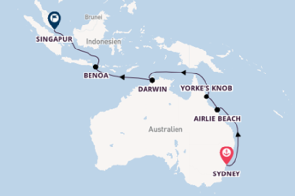 14 Tage Australien Kreuzfahrt
