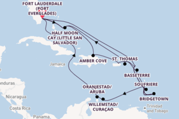26 day cruise with the ms Zaandam to Fort Lauderdale (Port Everglades)
