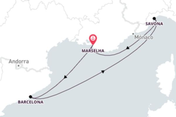 Jornada de 4 dias até Marselha com o Costa Fascinosa