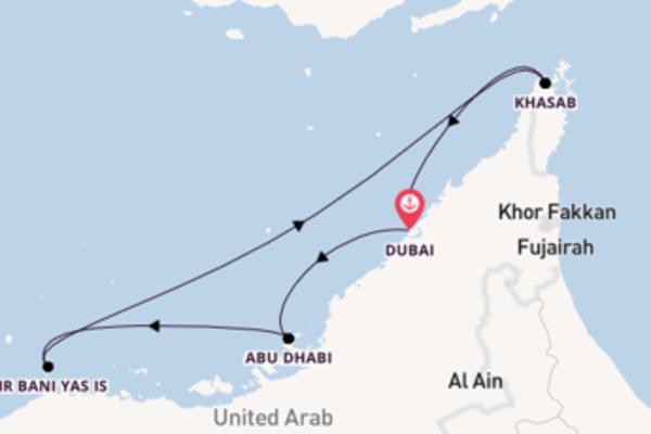 Pittoresca crociera di 8 giorni passando per Abu Dhabi