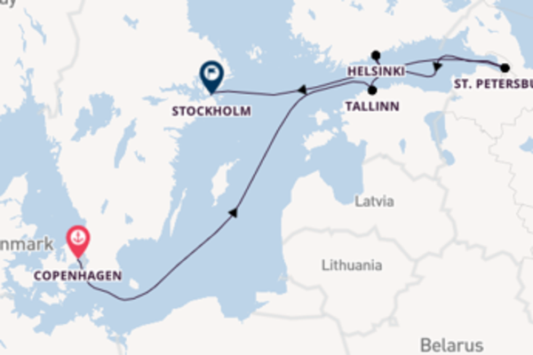 Expedition with the Seabourn Ovation to Stockholm from Copenhagen
