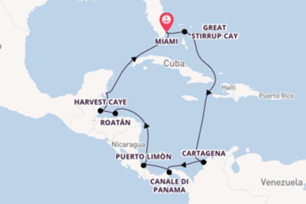 13 giorni verso Miami passando per Cartagena