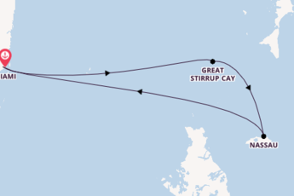 Voyage from Miami with the Norwegian Sky