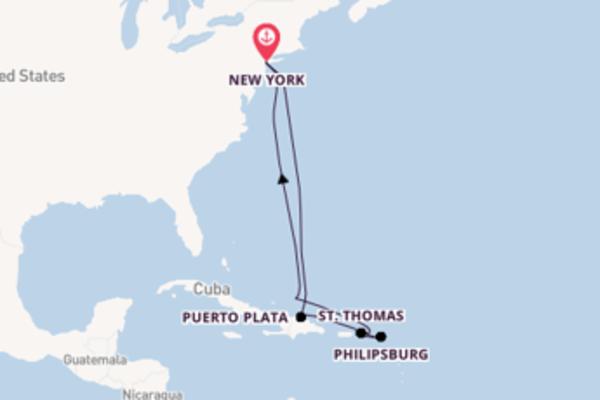 11 giorni verso New York passando per Philipsburg