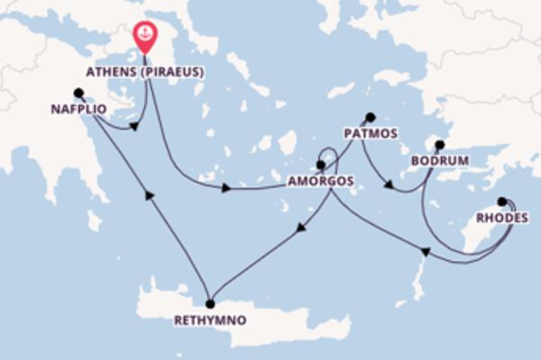 Sailing from Athens (Piraeus) via Rhodes