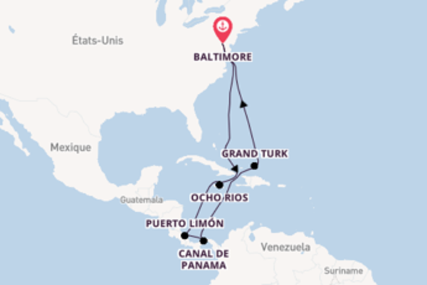 Superbe balade de 15 jours à bord du bateau Carnival Legend