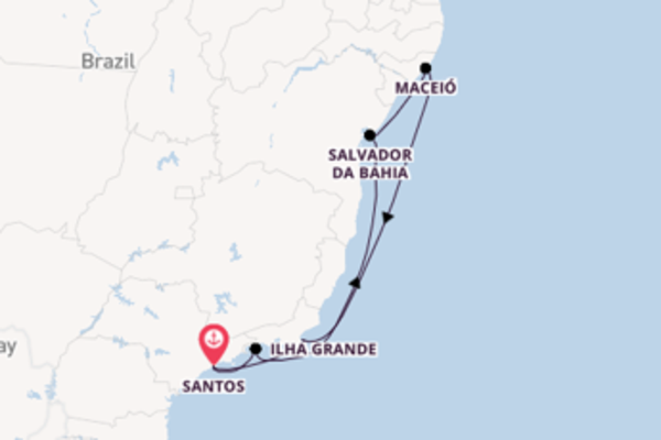 Journey with MSC Cruises from Santos