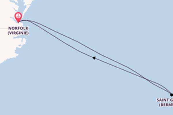 Saint George (Bermudes) et une magnifique croisière depuis Norfolk (Virginie)