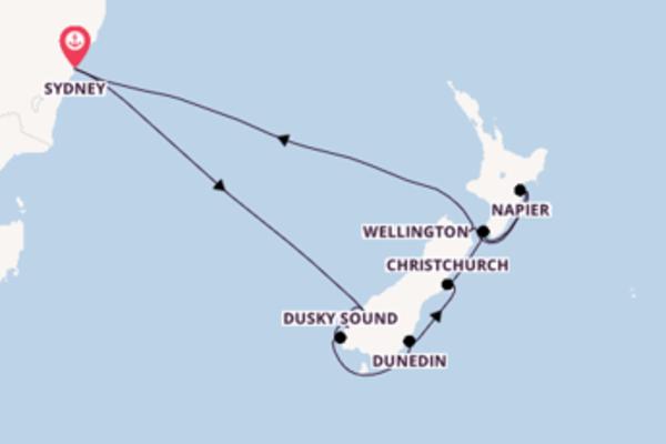 Dunedin et une sublime croisière depuis Sydney