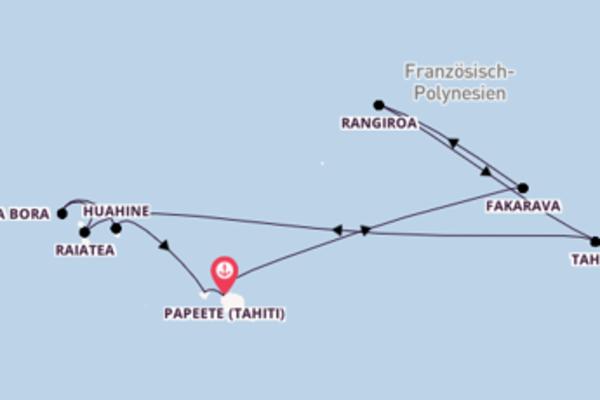 Von Tahiti zu den Tuamotu Inseln und zurück