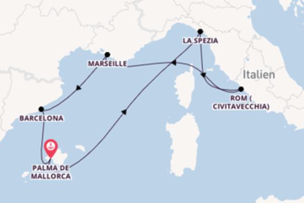 Genießen Sie 8 Tage Marseille und Palma de Mallorca