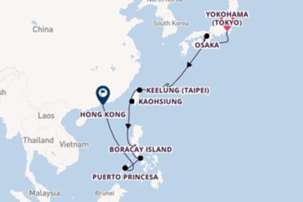 15 day voyage from Yokohama (Tokyo) to Hong Kong