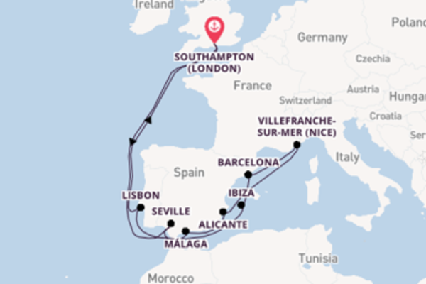 15 day cruise from Southampton (London)