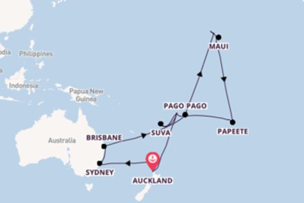 36-daagse droomcruise vanuit Auckland