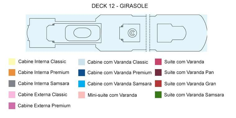 Costa Deliziosa Deck 12 Girasole