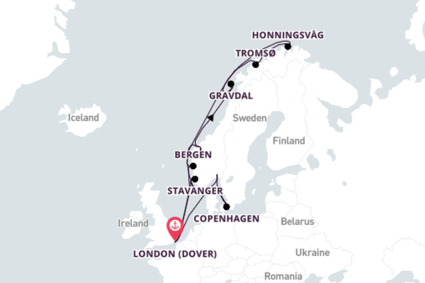 Crystal Serenity Voyage from London to Copenhagen