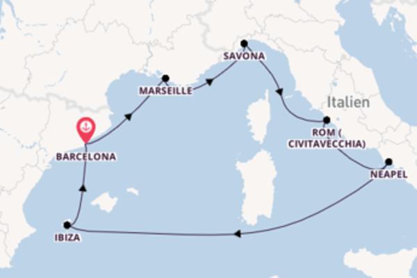 8 Tage auf der Costa Firenze