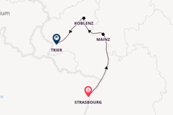 5 day trip from Strasbourg to Trier