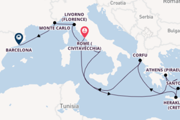 Glorious journey from Rome (Civitavecchia) with Norwegian Cruise Line