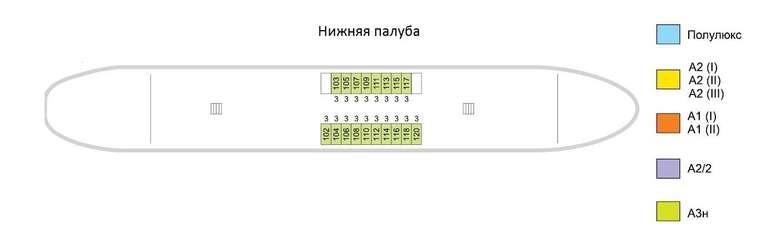 Санкт-Петербург Нижняя палуба