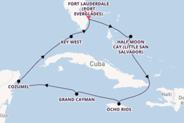 9 day journey from Fort Lauderdale (Port Everglades)