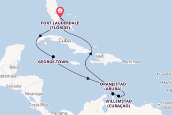 Kralendijk (Ile Bonaire) depuis Fort Lauderdale (Floride) pour une croisière de 10 jours