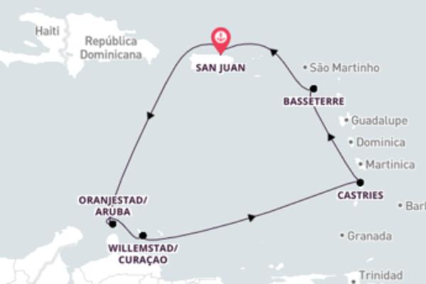 Jornada de 8 dias até San Juan com o Norwegian Epic