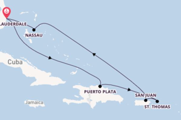 8-daagse cruise naar Puerto Plata