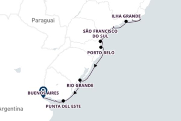 Jornada de 13 dias até Buenos Aires com o Seven Seas Voyager
