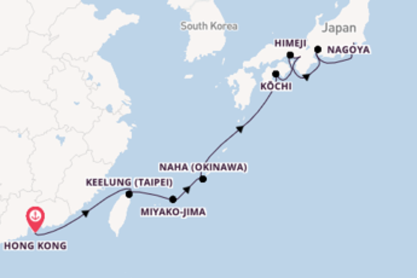 Journey with Norwegian Cruise Line from Hong Kong