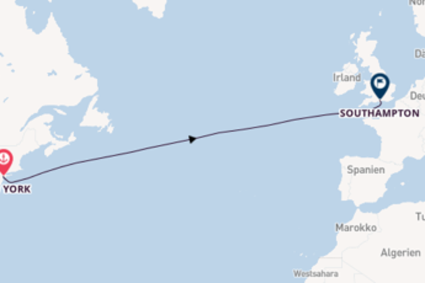 Von New York nach Southampton