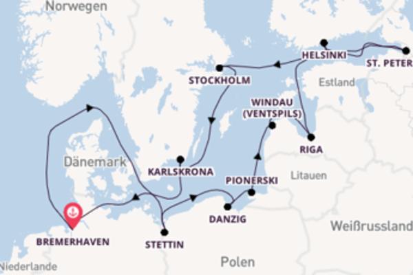15 Tage unterwegs mit der MS Deutschland