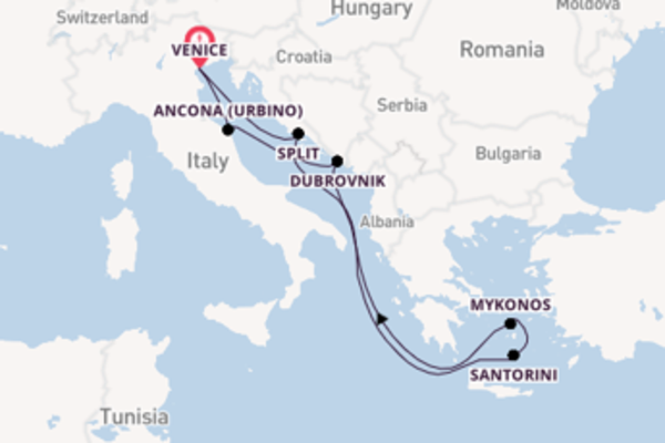 Cruise from Venice with the MSC Lirica