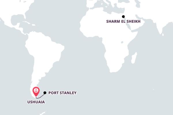 16-Day Sensational Cruise to Sharm El Sheikh
