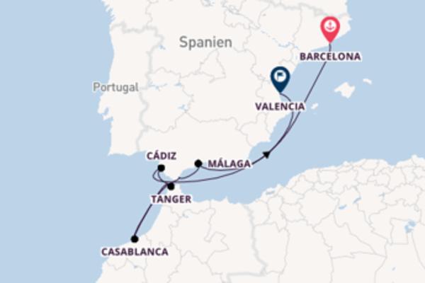 Außergewöhnliche Reise ab Barcelona