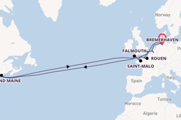 Cruise naar Bremerhaven via Rouen