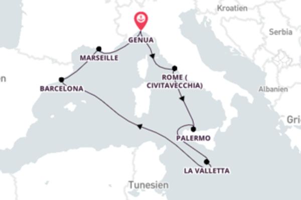 In 8 Tagen Genua über Marseille