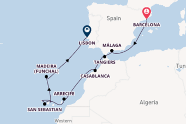Sailing with the Seabourn Sojourn to Lisbon from Barcelona