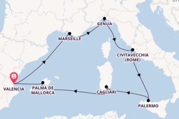 8-daagse reis aan boord van het MSC Seaside