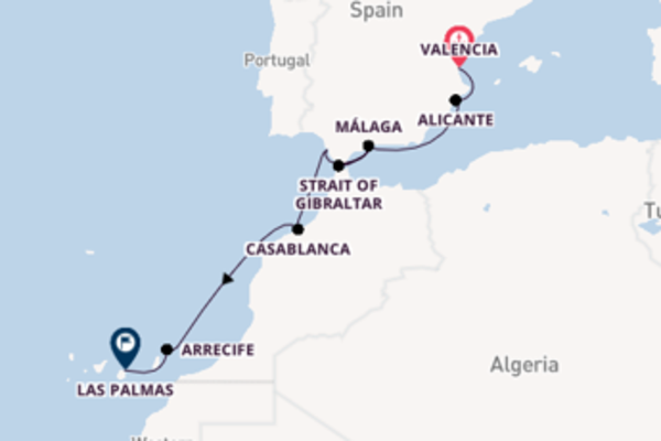 Voyage from Valencia with the Sea Cloud