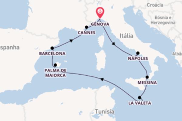 Navegue a bordo do MSC Grandiosa em 9 dias