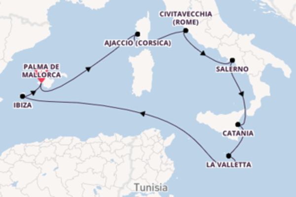 Cruise met TUI Cruises naar het pittoreske Palma de Mallorca