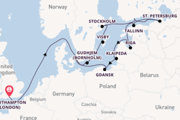 15 day cruise with the Island Princess to Copenhagen