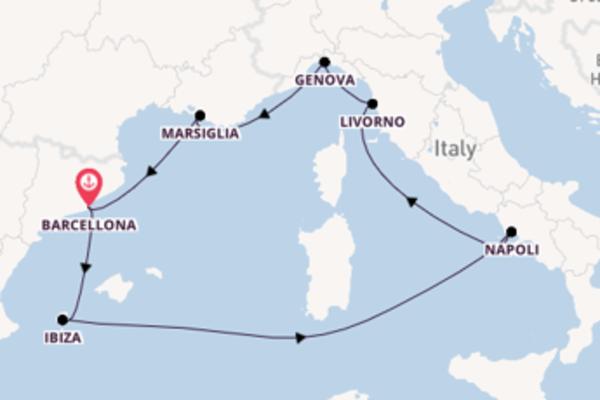 Viaggio da Barcellona verso Livorno (Firenze)